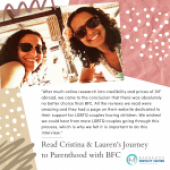 Read Cristina & Lauren's Story to successful IVF treatment